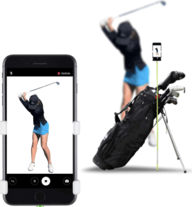 Golf bag attachment for lessons
