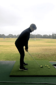 Down the line golf swing