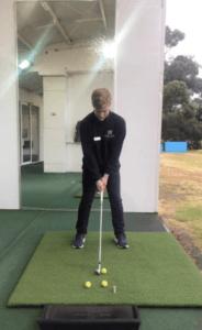 Face On camera golf swing